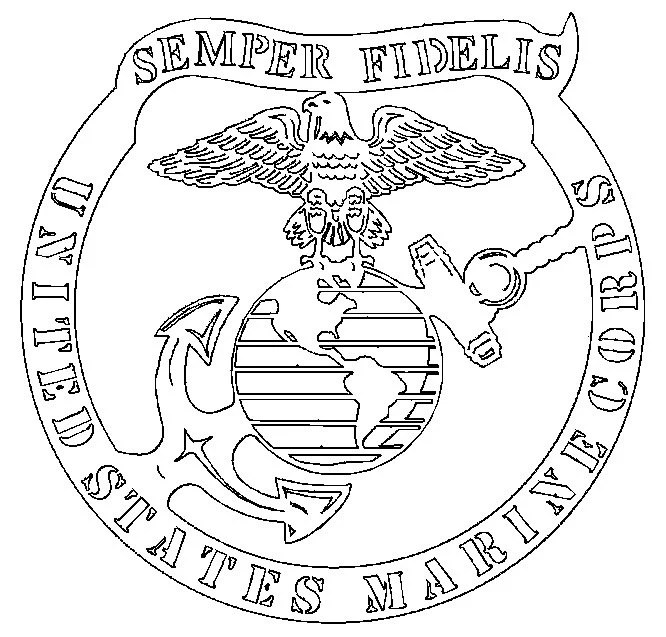Marines Semper Fi Dxf File For Cnc Plasma Laser By
