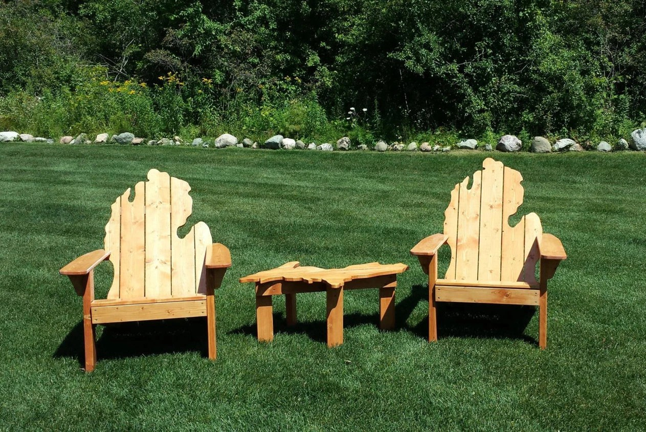 michigan adirondack chair best bean bag uk local pick up only etsy image 0