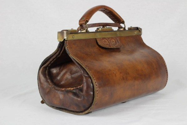 Gladstone Bag Doctors Antique Leather