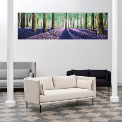 Wall Prints For Living Room Australia Photo Tree Art Etsy 98 X 24 Verbena Woods Forest Trees Painting Canvas Print Abstract Landscape By Jane Crawford Coa