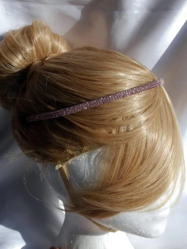 pink hair piece, rhinestone wedding hair band tiara, pink bridal tiara band, thick diamante pink head band, pink bridesmaid hair piece