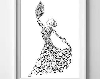 arabic art etsy