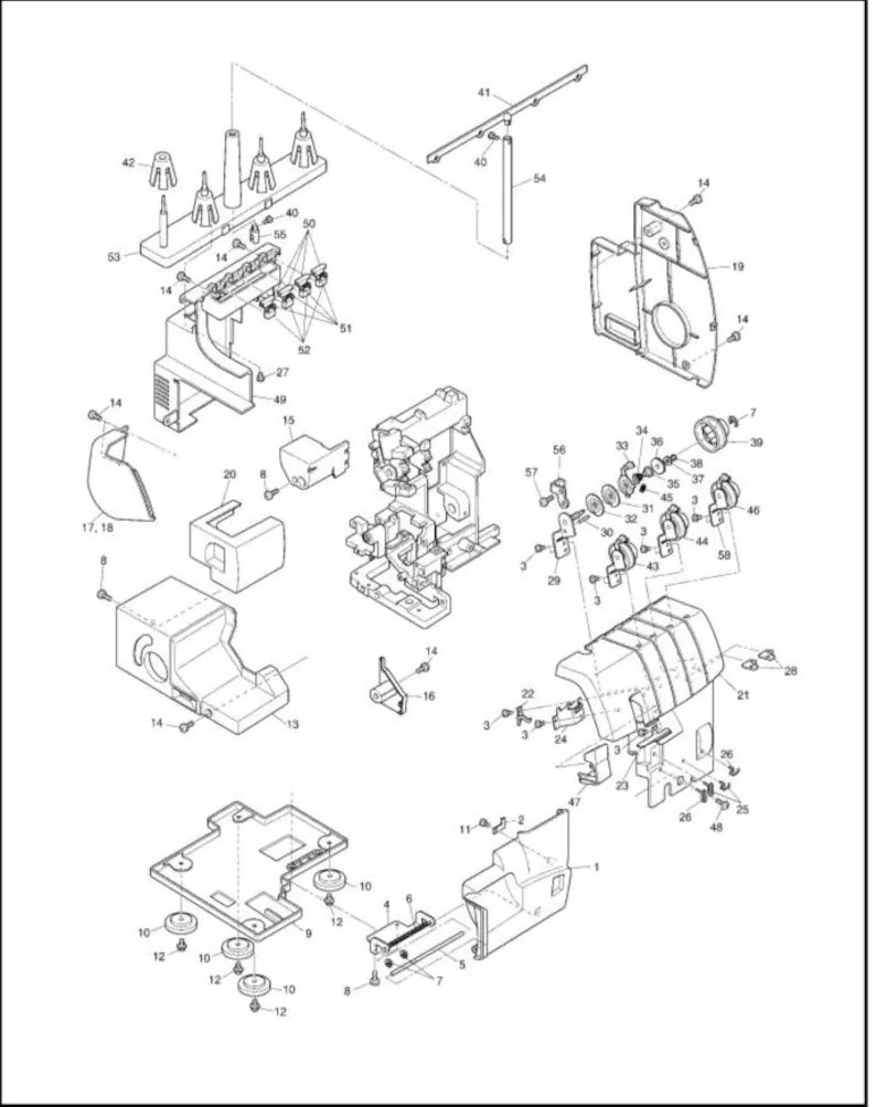 Brother 1034 Serger service manual Homelock 1034d
