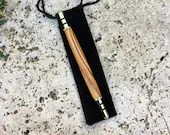 Olive Wood and Gold Seam Ripper / Stiletto, Handcrafted