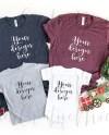 Bella Canvas Christmas Family Shirts Mockup 3001 3001t Etsy