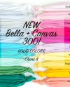 Bella Canvas Regular Solids Color Chart 3001 A Out Of B C Etsy