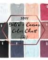 Bella Canvas Color Chart Mockup 3001 A Folded T Shirt Etsy