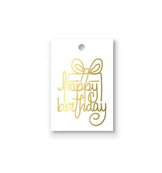 happy birthday present gold