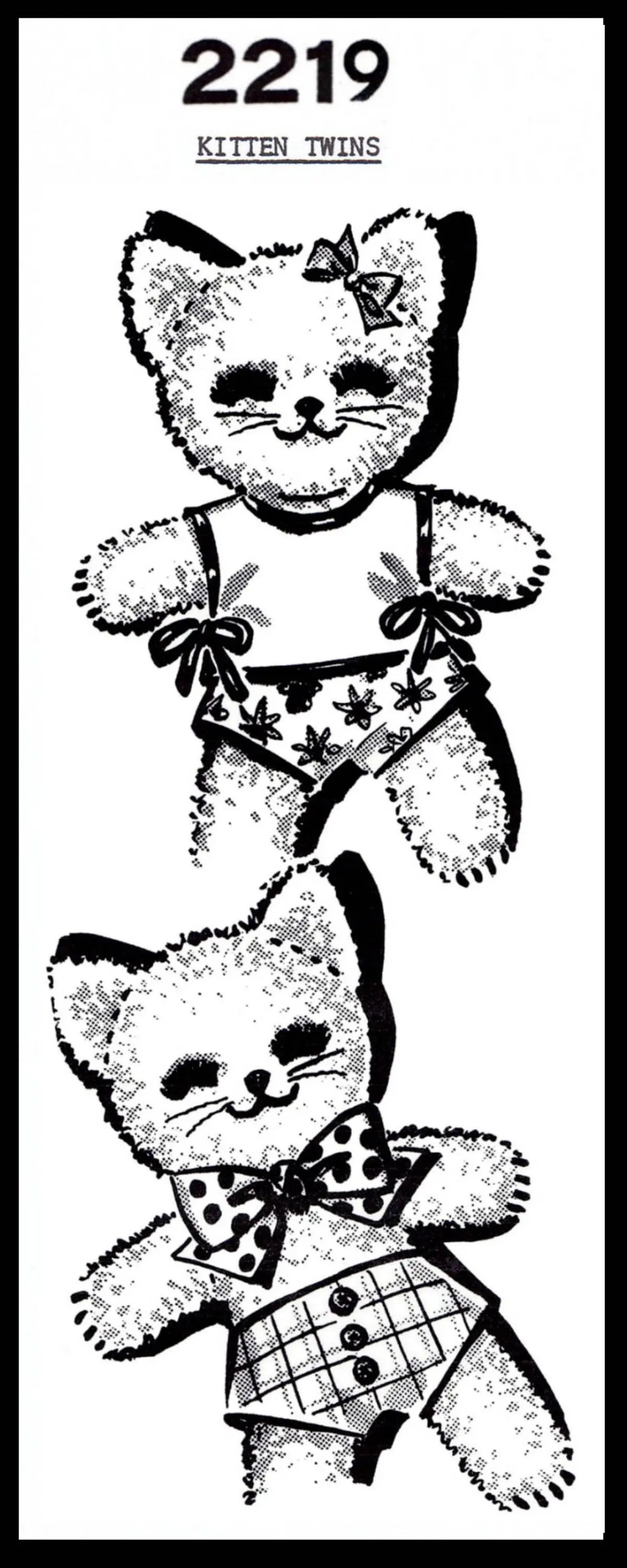PDF ONLY Terry Cloth Fabric Sewing Pattern CAT Kitty