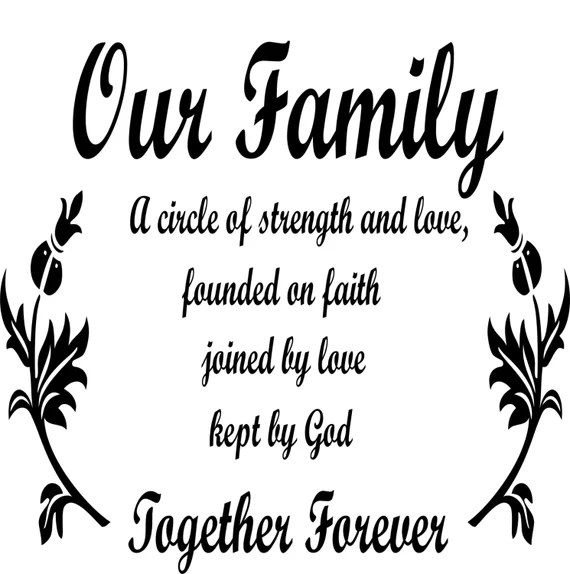 Download Our Family A Circle of Strength..Faith Love Kept By God   Etsy