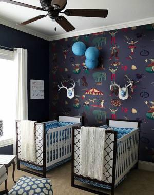 children circus boy nursery wall decor kid