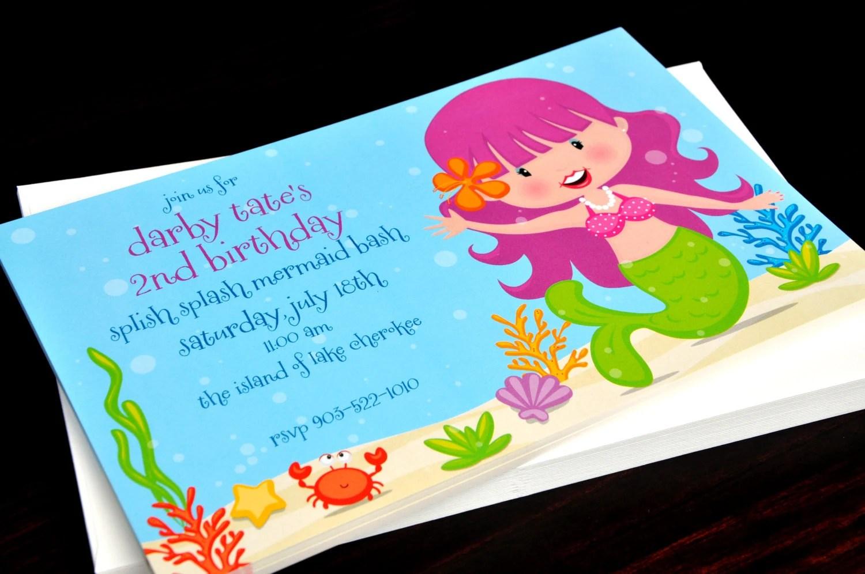 mermaid invitation under the