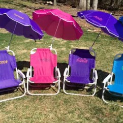 Toddler Beach Chair Personalized Cowhide Uk Etsy Child S With Umbrella Sand Folding Name Initials Monogram