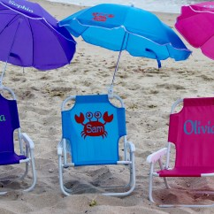 Infant Beach Chair With Umbrella Office Blue Baby Etsy Child S Personalized Sand Folding Name Initials Monogram