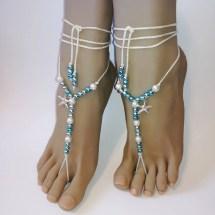 Beach Wedding Barefoot Sandals Starfish
