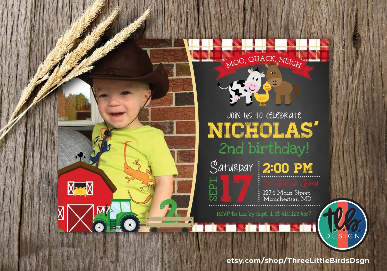 barnyard birthday invitation farm