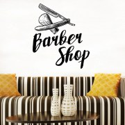 barber logo decal hair salon