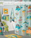 Pirate Personalized Shower Curtain Kids Bath Mat Towel Etsy