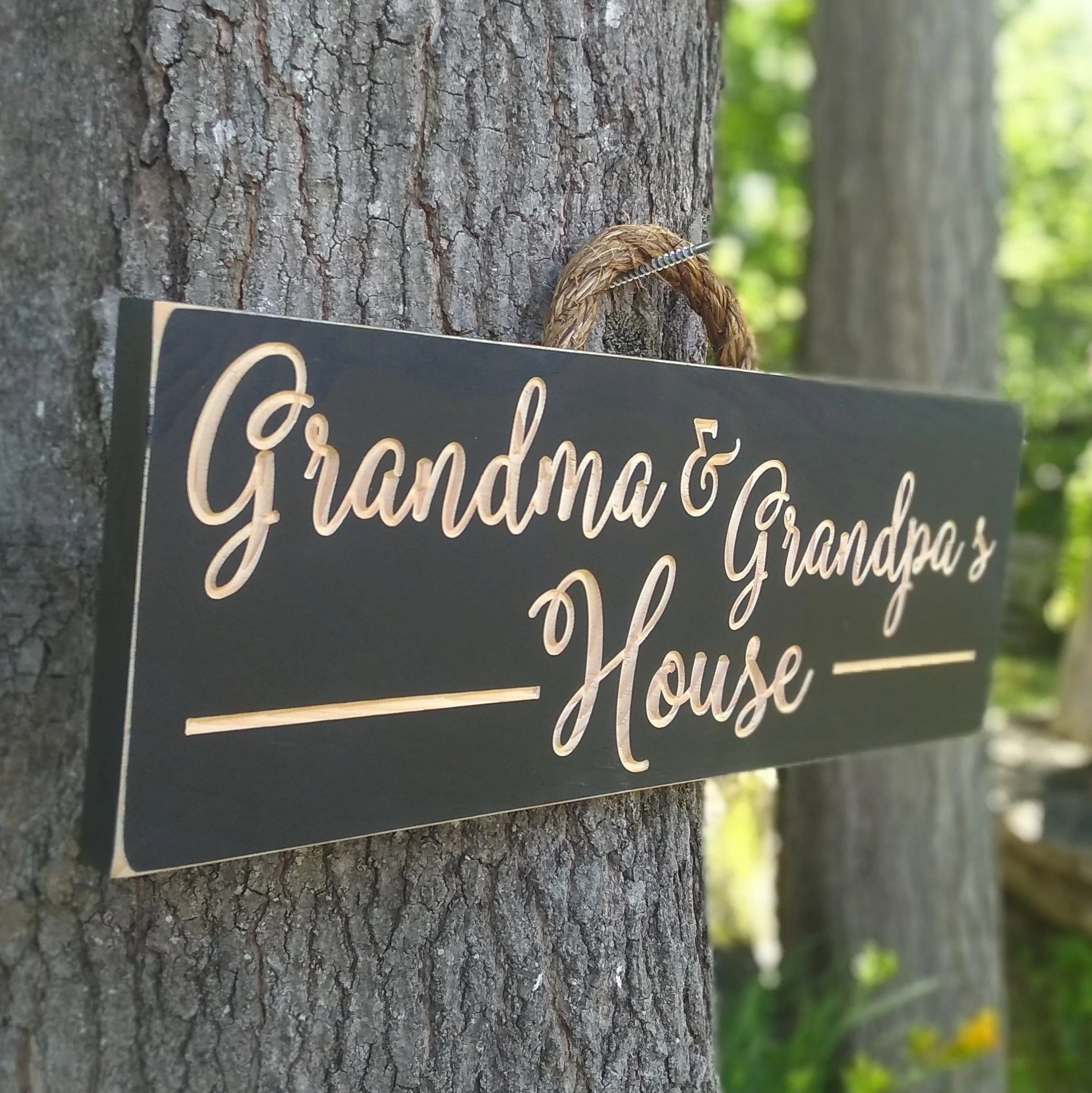 Personalized Wooden signsGrandma and Grandpa's image 3