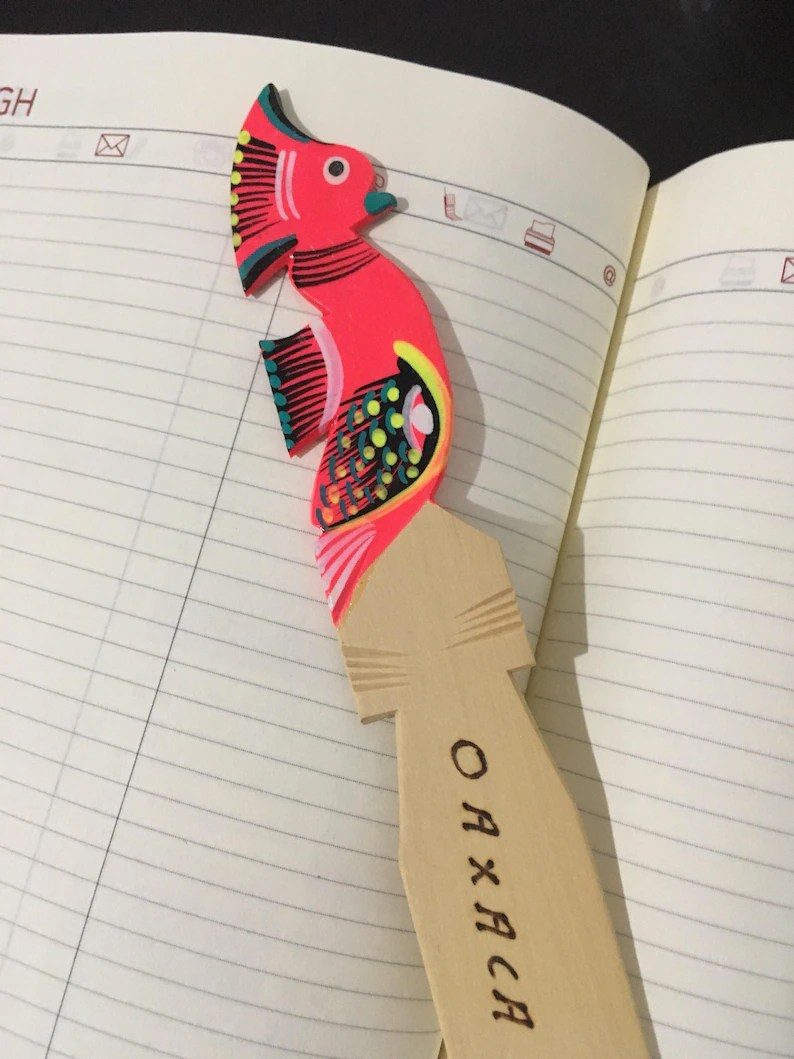alebrije bookmark handmade painted