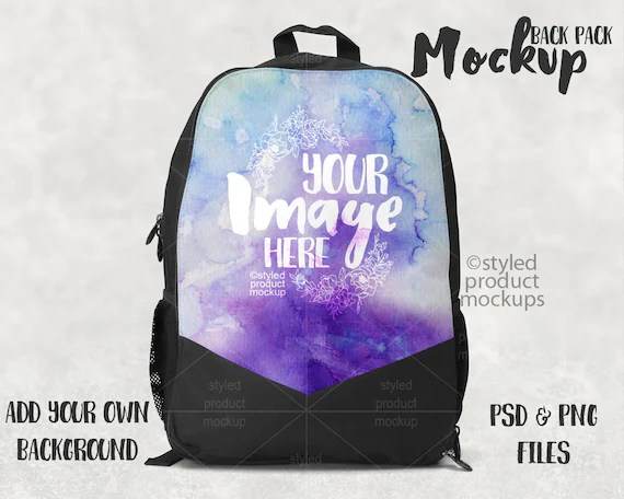Download Dye Sublimation Back Pack Template Mockup Add Your - Logo ...