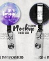 Button Badge Reel With Slide On Clip Mockup Template With Etsy