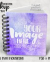 Dye Sublimation Small Spiral Notebook Journal Template Mockup Etsy