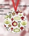 Dye Sublimation Round Ceramic Christmas Ornament Mockup Add Etsy