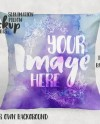 Sublimation Canvas Throw Pillow Sham Mockup Template Add Your Etsy