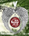 Dye Sublimation Metal Angel Wing Ornament Mockup Add Your Etsy