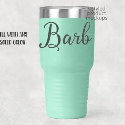 30 Oz Ring Neck Color Coated Tumbler Mockup Add Your Own Etsy