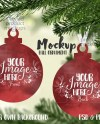 Ball Ornament Shaped Double Sided Christmas Ornament Mockup Etsy