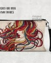 Dye Sublimation Linen Pouch With Strap Mockup Template Add Etsy