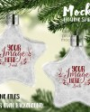 Double Sided Star Shaped Floating Ornament Mockup Add Your Etsy