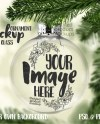 Clear Round Christmas Ornament Mockup Template Add Your Own Etsy