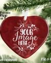 Large Heart Shaped Porcelain Christmas Ornament Mockup Etsy
