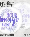 Dye Sublimation Round Glass Coaster Mockup Add Your Own Etsy