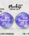 Cabochon Tray Style Stud Earring Mockup Add Your Own Image Etsy