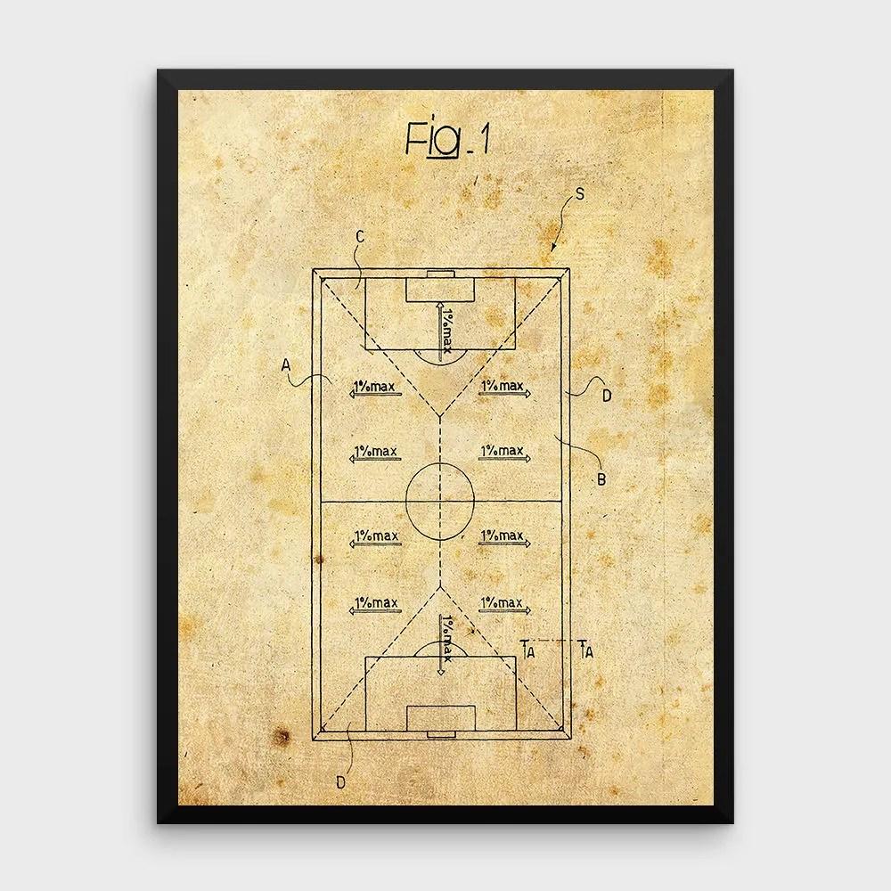 football pitch diagram to print 1974 vw beetle alternator wiring vintage soccer patent etsy image 0