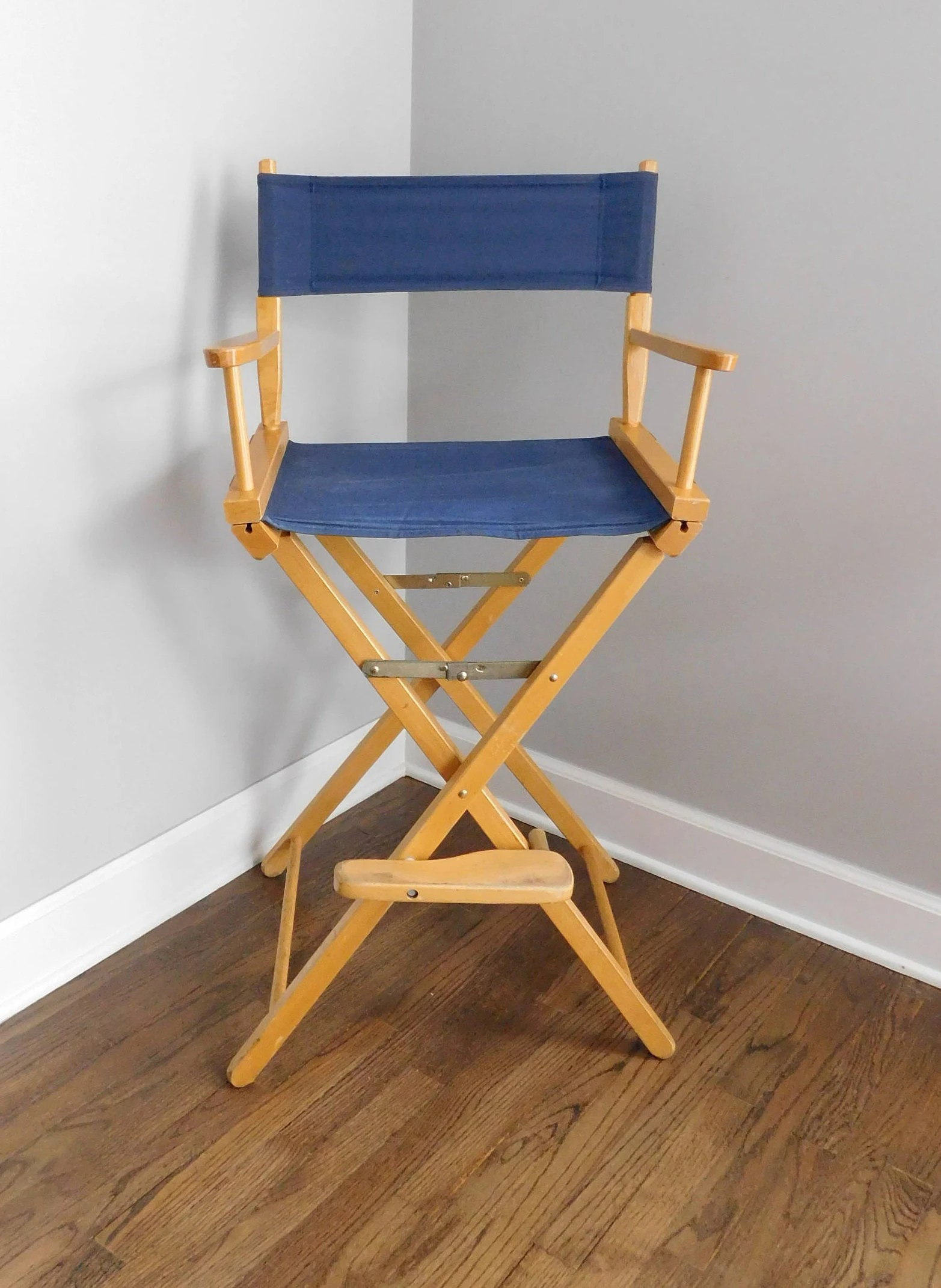 Folding Director Chair Vintage Tlt Inc Directors Barstool Chair Mid Century Telescope Folding Directors Chair Fabric Barstool