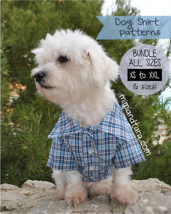 Dog Clothes Patterns : clothes, patterns, Shirt, Pattern, Bundle, Sizes, Clothes, Sewing