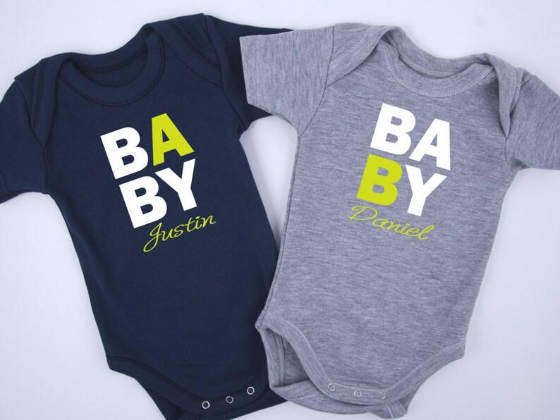 personalized twin baby boy