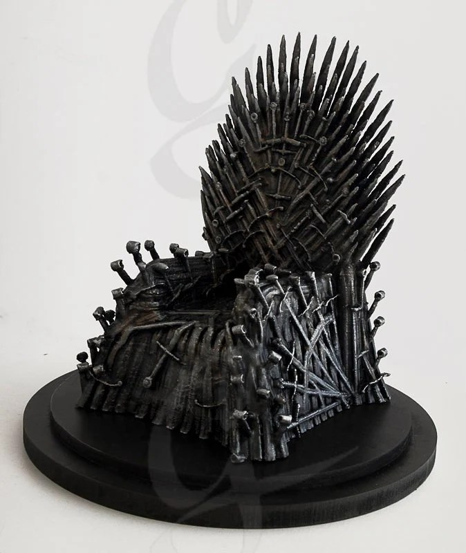 iron throne chair backboard glider rocking and ottoman etsy game of thrones got model