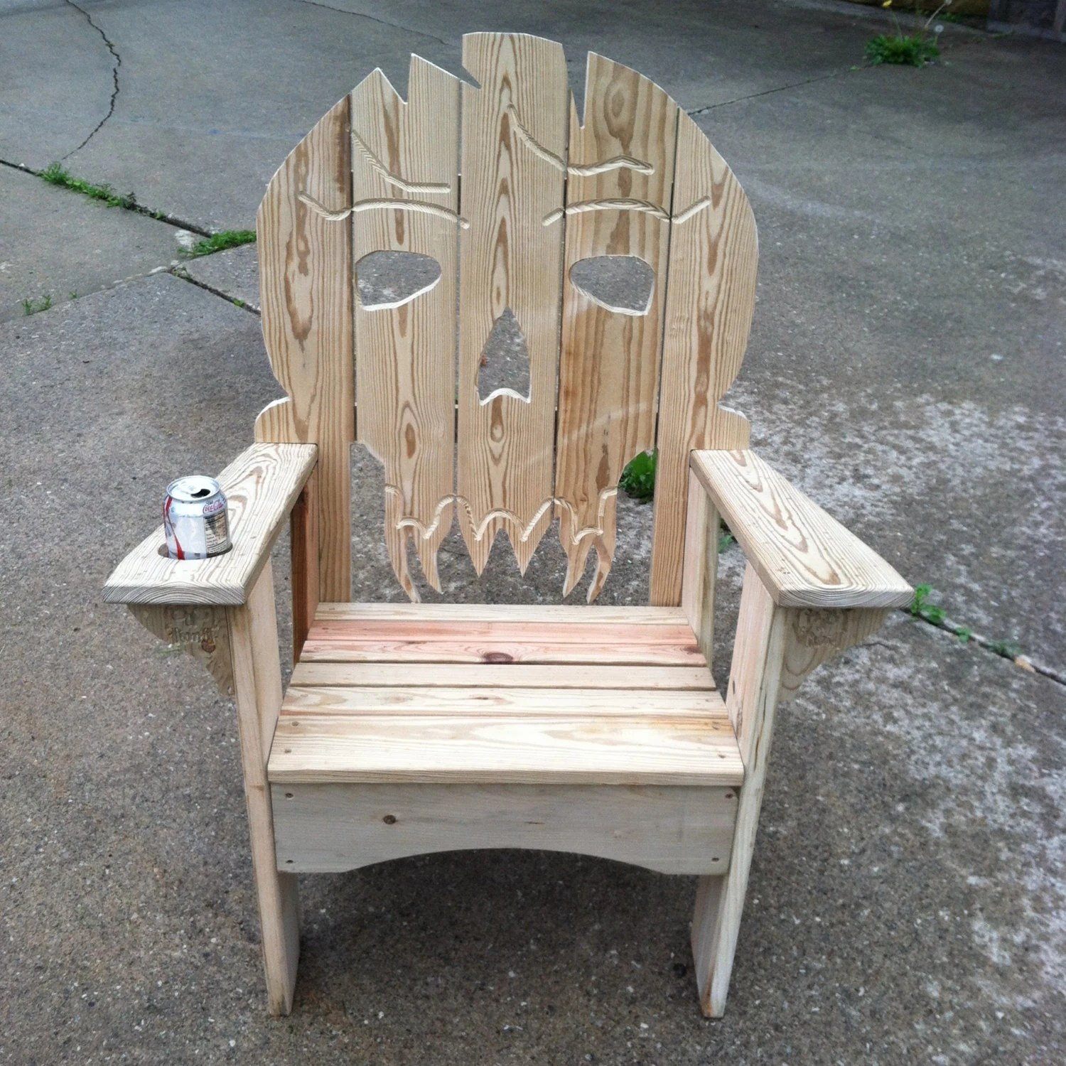 skull chair cheap dining room chairs ultimate adirondack etsy image 0