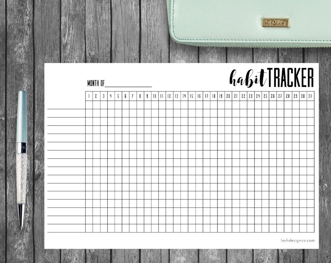Printable Habit Tracker, ...