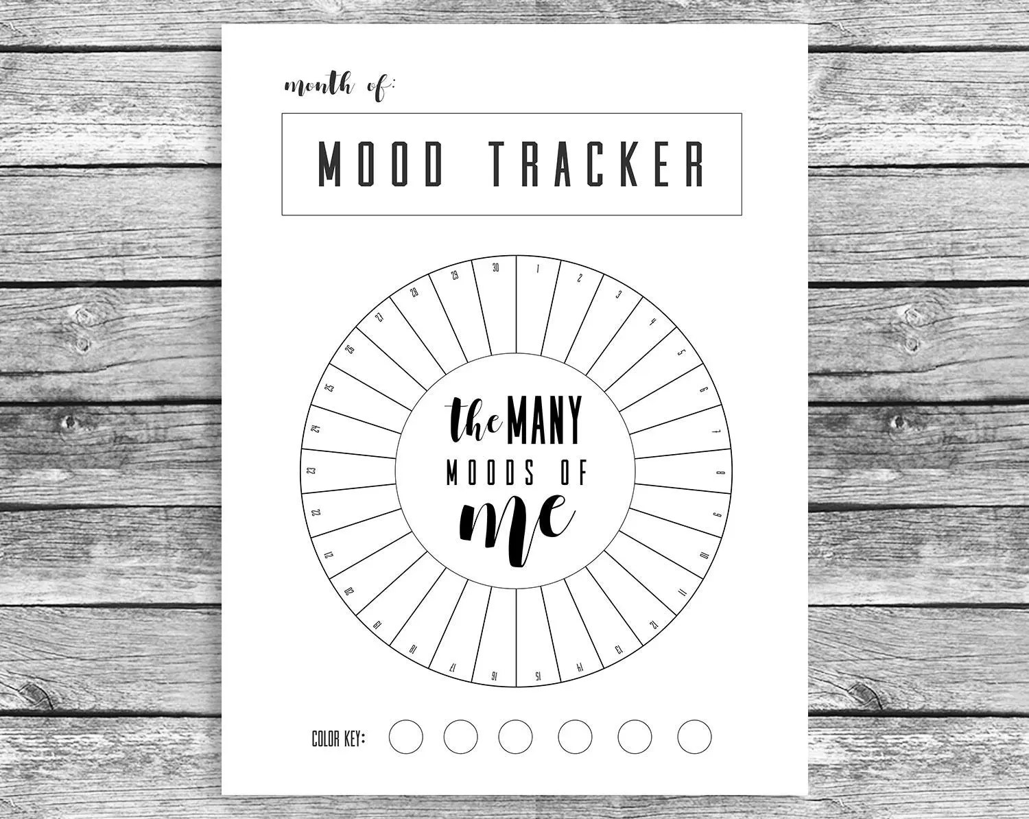 Printable Mood Tracker Track your Mood for 1 Year A5 for