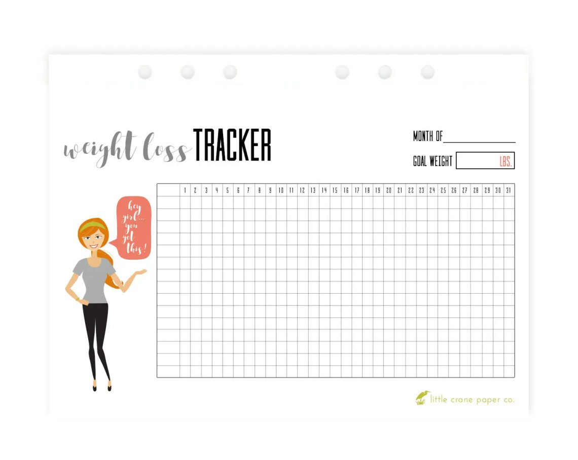 Weight Loss Tracker A5 In...