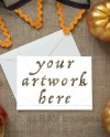 Autumn Greeting Card Horizontal Mockup For Your Artwork Etsy