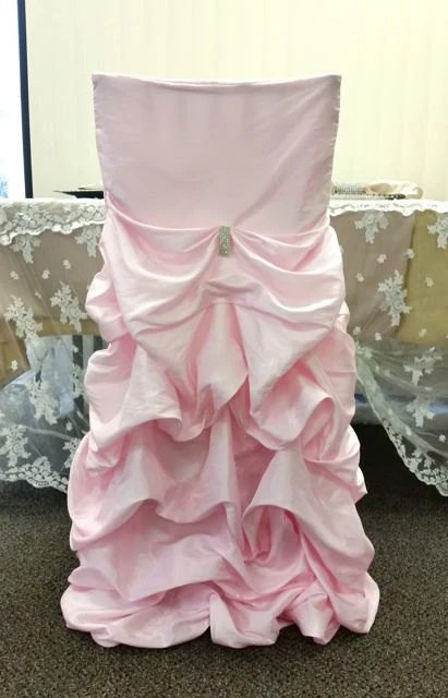 fancy chair covers for sale childrens potty chairs etsy wedding ruffled bustled ruched