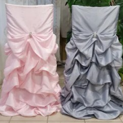 Black Ruched Chair Covers Cast Iron Chairs Etsy Ruffled Wedding Bustled Fancy